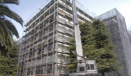 香川大学施工風景